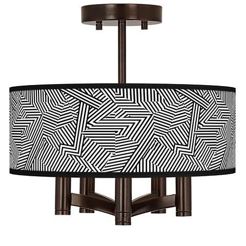 Labyrinth Ava 5-Light Bronze Ceiling Light