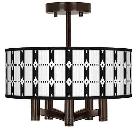 Tribal Weave Ava 5-Light Bronze Ceiling Light