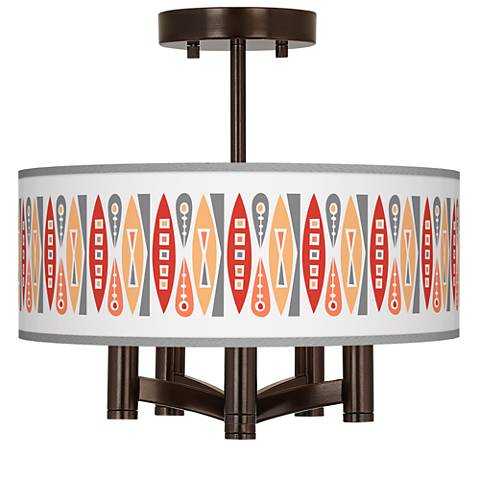 Vernaculis VI Ava 5-Light Bronze Ceiling Light