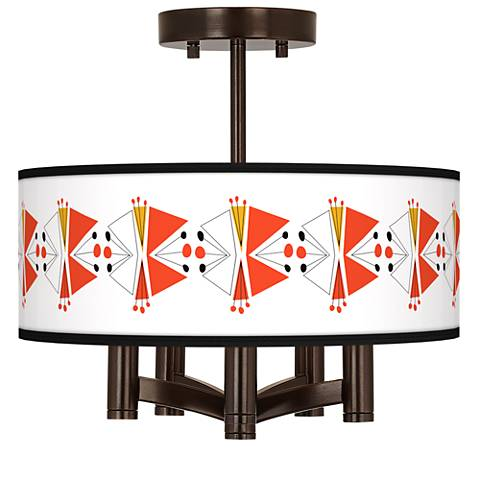 Lexiconic III Ava 5-Light Bronze Ceiling Light