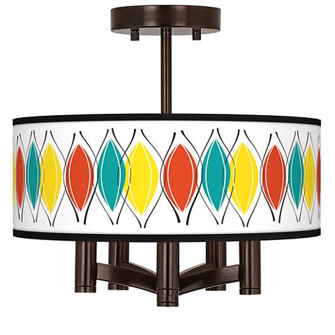Harmonium Ava 5-Light Bronze Ceiling Light
