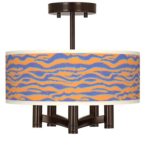 Sunset Stripes Ava 5-Light Bronze Ceiling Light