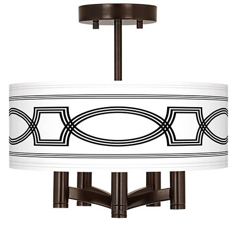 Concave Ava 5-Light Bronze Ceiling Light