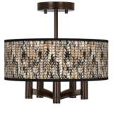 Braided Jute Ava 5-Light Bronze Ceiling Light