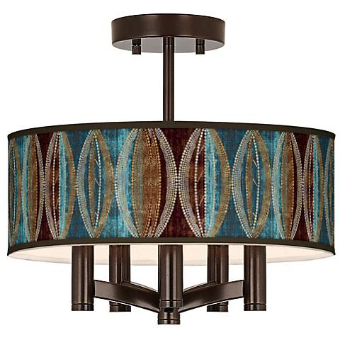 Stacy Garcia Pearl Leaf Peacock Ava Bronze Ceiling Light