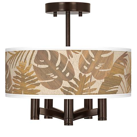 Tropical Woodwork Ava 5-Light Bronze Ceiling Light