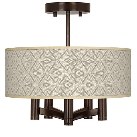 Moroccan Diamonds Ava 5-Light Bronze Ceiling Light