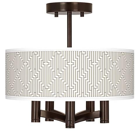 Diamond Maze Ava 5-Light Bronze Ceiling Light
