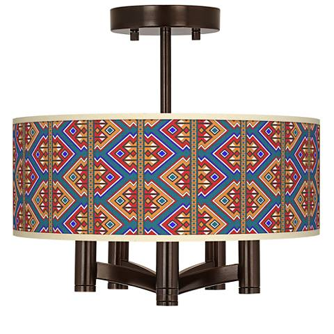 Rich Bohemian Ava 5-Light Bronze Ceiling Light