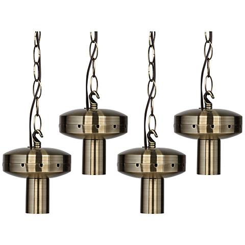 4 Light Antique Brass Shade - Multi Light Pendant DIY Kit