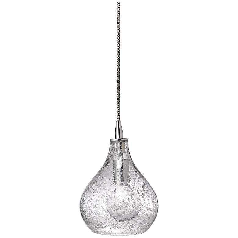 """Jamie Young 7""""W Clear Glass Small Curved Pendant Light"""