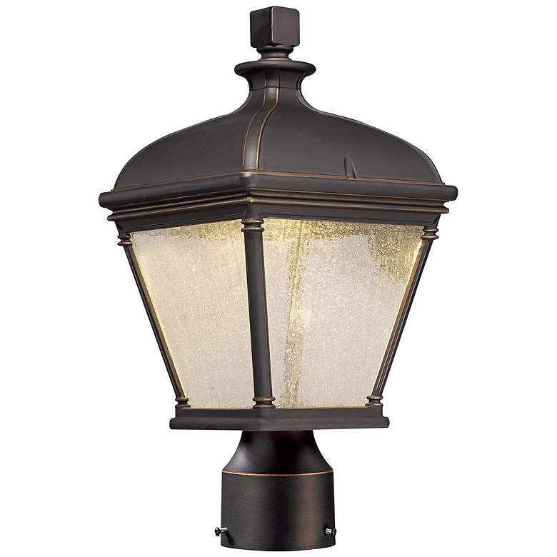 """Lauriston Manor 15"""" High Bronze LED Outdoor Post"""