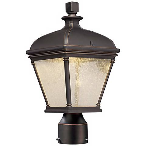 "Lauriston Manor 15"" High Bronze LED Outdoor Post Light"