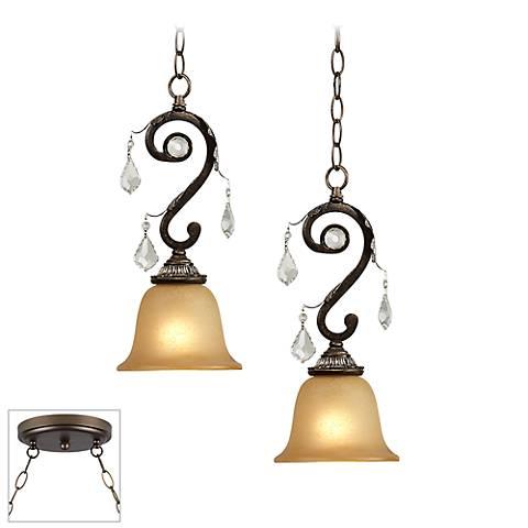 Kathy Ireland Rama de Luces Bronze 2-Light Multi Pendant