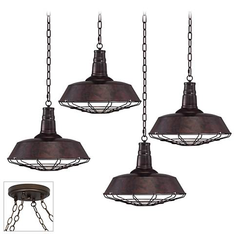 Tiedra Bronze 4-Light Swag Chandelier