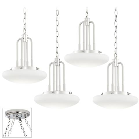 Possini Euro Broadway Chrome 4-Light Swag Chandelier