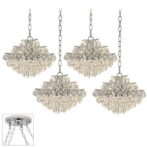 Essa Chrome 4-Light Swag Chandelier