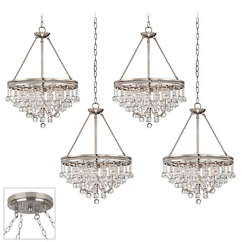 Regina Brushed Steel 4-Light Swag Chandelier