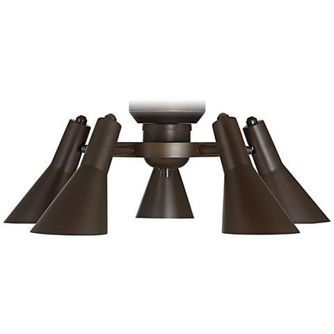 Pull-Chain Adjustable Bronze Ceiling Fan Light Kit