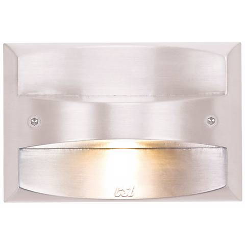 """Matte White 4 1/2"""" Wide LED Rectangle Outdoor Step Light"""