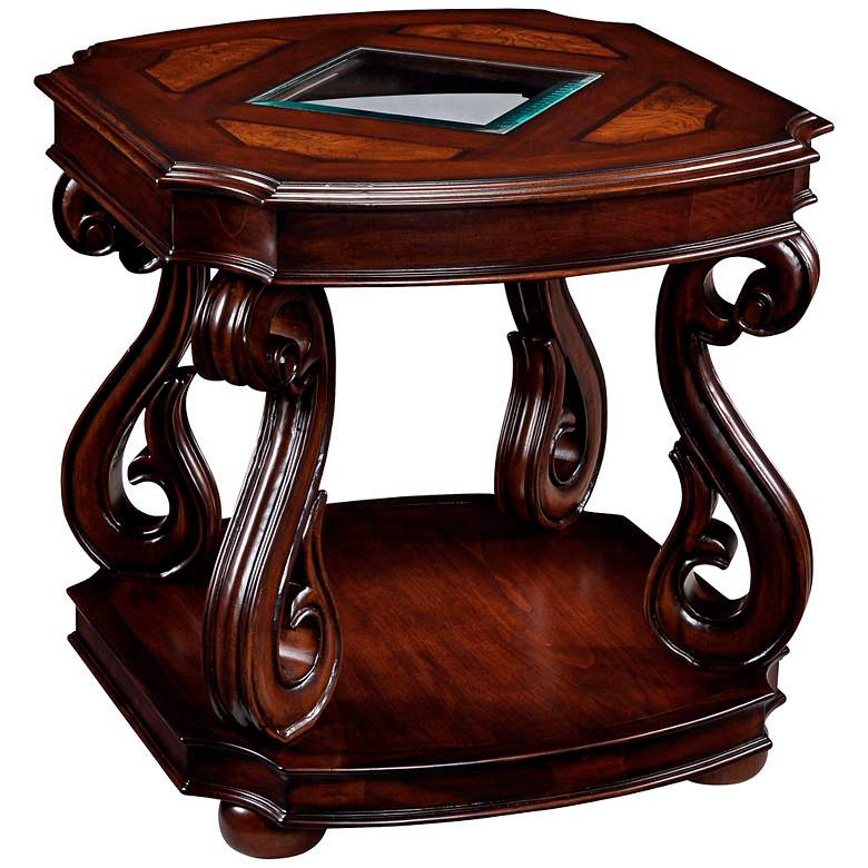 """Harcourt Collection 26"""" Wide Rectangular Cherry End Table"""