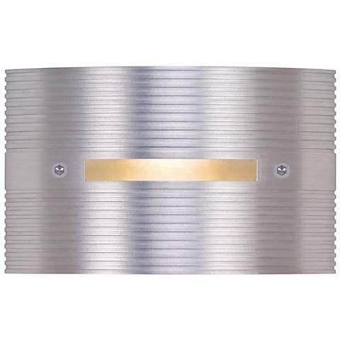 "Ridged Satin Rectangle 4 1/2"" Wide LED Outdoor Step Light"