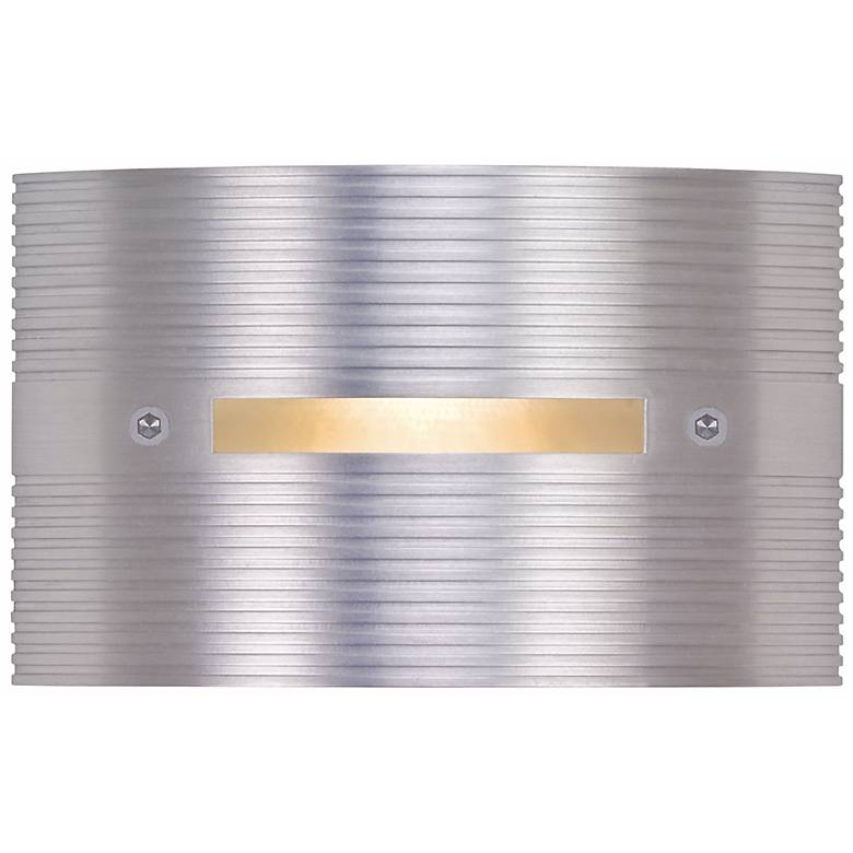 """Ridged Satin Rectangle 4 1/2"""" Wide LED Outdoor Step Light"""