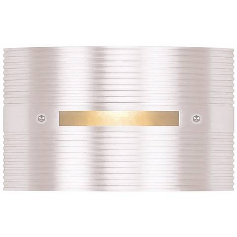 "Matte White Rectangle 4 1/2"" Wide LED Outdoor Step Light"