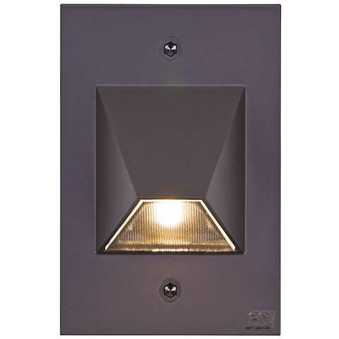 """Bronze Trapezoid 4 1/2"""" High LED Outdoor Step Light"""