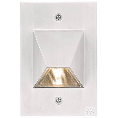 "Matte White Trapezoid 4 1/2"" High LED Outdoor Step Light"