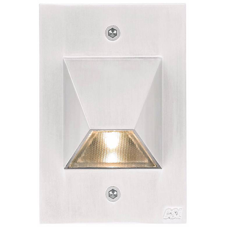 """Matte White Trapezoid 4 1/2"""" High LED Outdoor Step Light"""