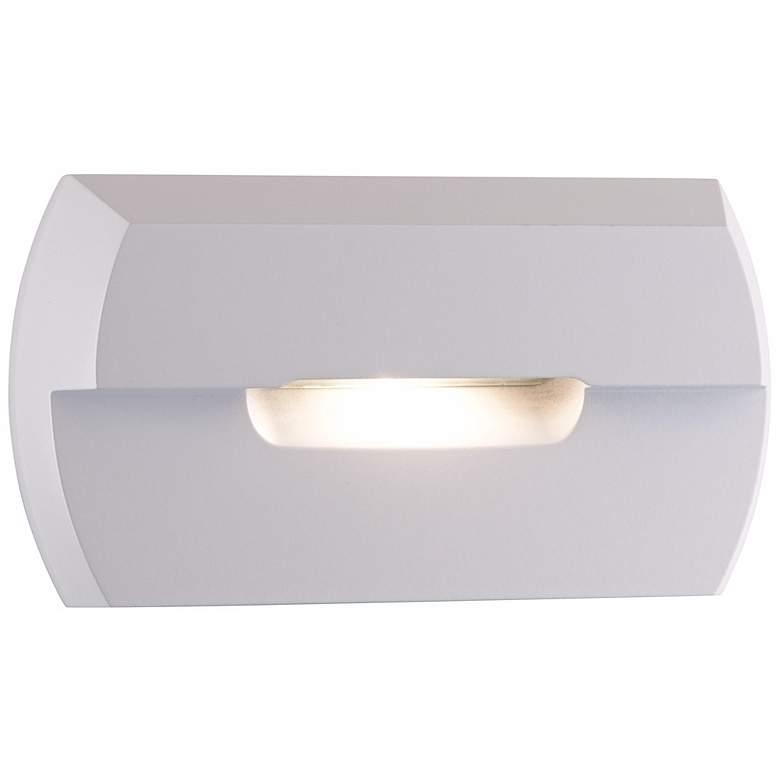 """Matte White 4 3/4"""" Wide LED Step Light"""