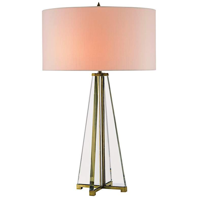 Currey and Company Lamont Crystal and Brass Table Lamp
