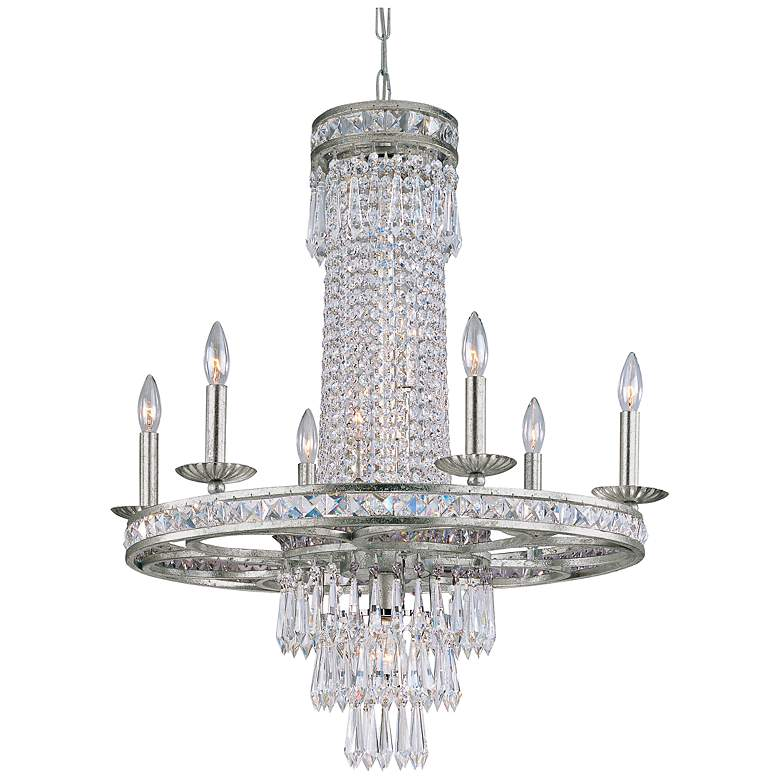 "Mercer 33"" High Clear Crystal Chandelier"