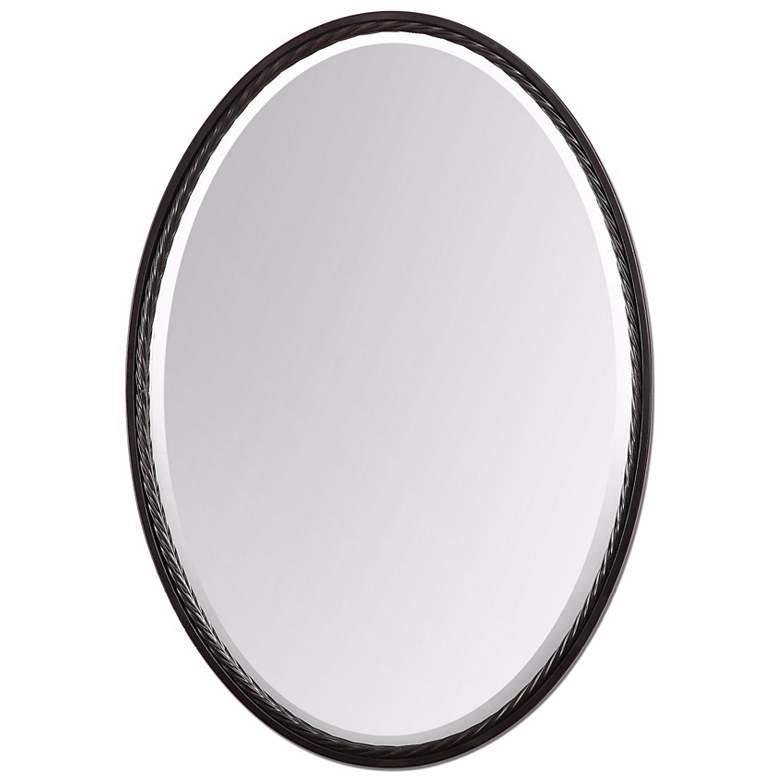 "Uttermost Casalina Oil-Rubbed Bronze 22"" x 32"" Wall Mirror"