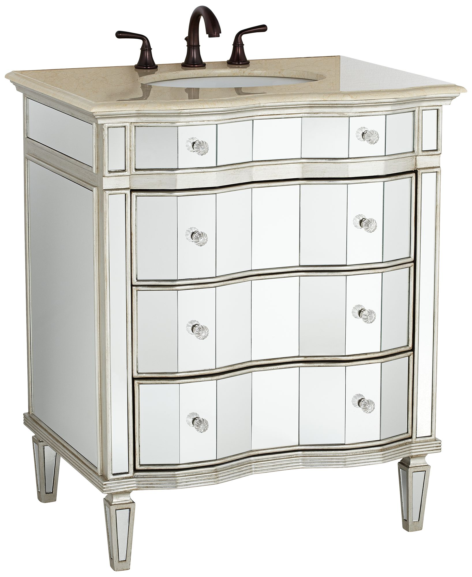 Gentil Kaylee Mirrored Bathroom Sink Vanity