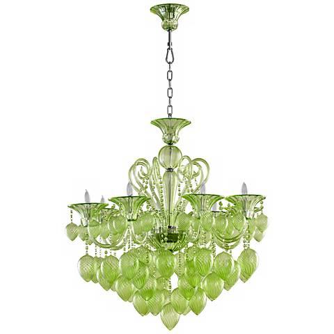 Bella green glass chandelier y2116 lamps plus bella green glass chandelier aloadofball Gallery