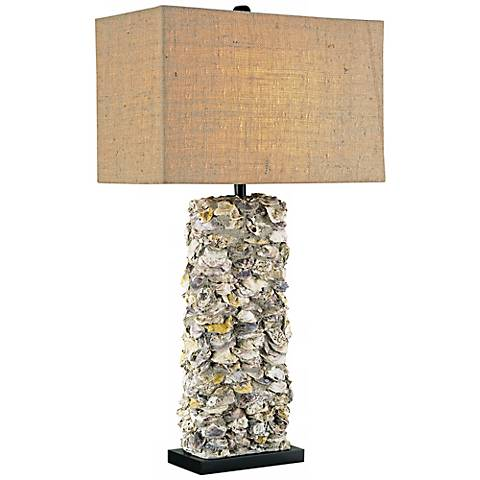 Currey and Company Lynnhaven Oyster Shell Table Lamp