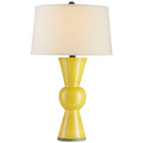 Upbeat Yellow Terracotta Currey and Company Table Lamp