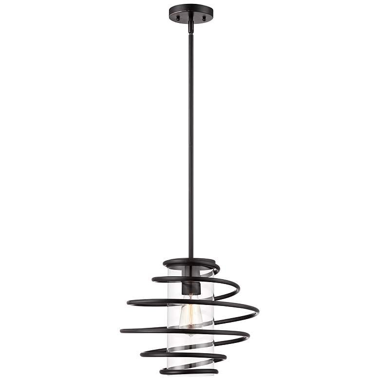 "Vansbro Collection 14 1/2"" Wide Black Mini Pendant Light"