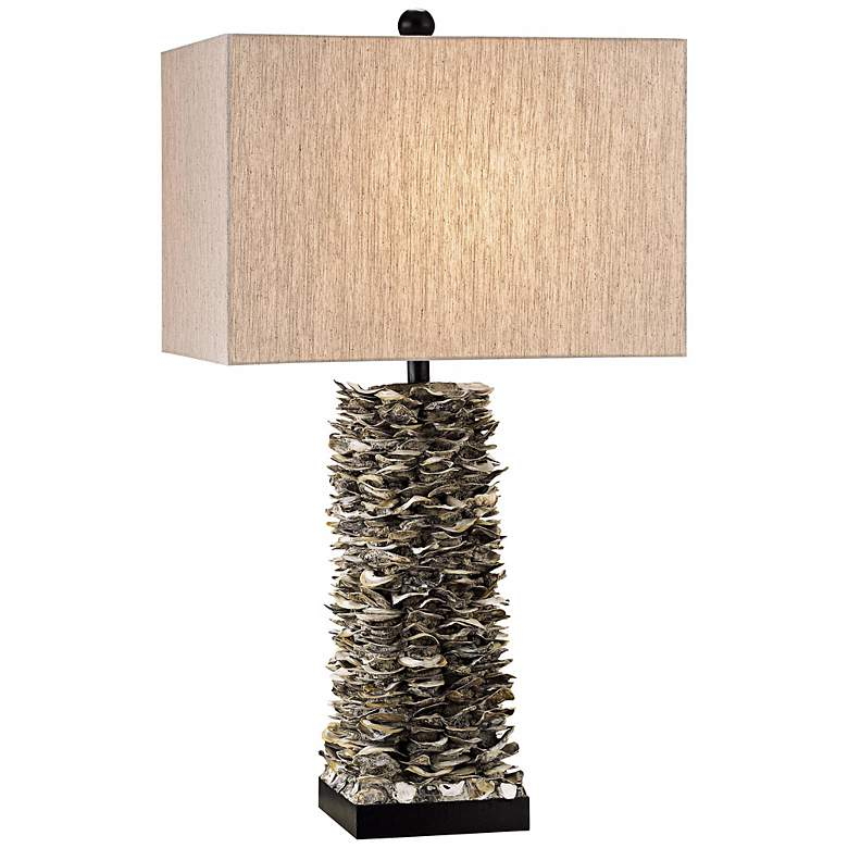 Currey and Company Villamare Oyster Shell Table Lamp
