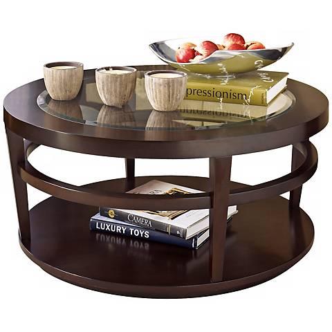 Hammary Urbana Merlot Round Cocktail Table