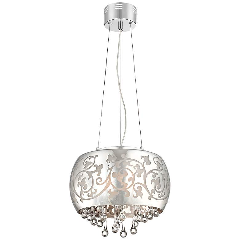 "Ballantine 15 3/4"" Wide Etched Glass Pendant Light"