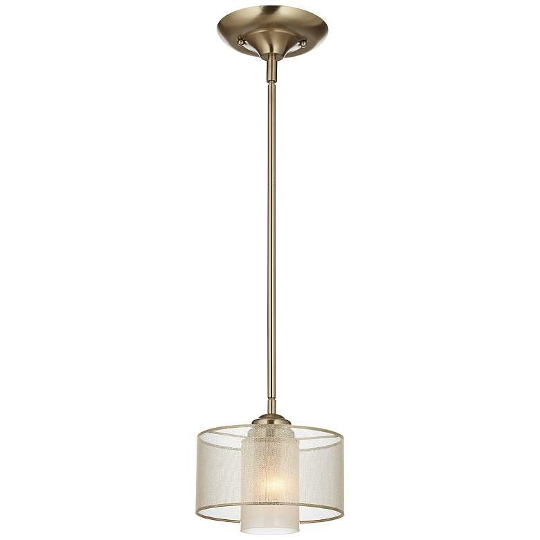 """Possini Euro Design Alecia 8"""" Wide French Gold Mini Pendant"""