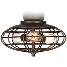 Ceiling fan light kits lamps plus oil rubbed bronze open cage 3 60 watt ceiling fan light kit mozeypictures Images
