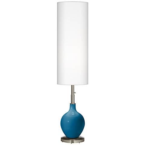 Mykonos Blue Ovo Floor Lamp