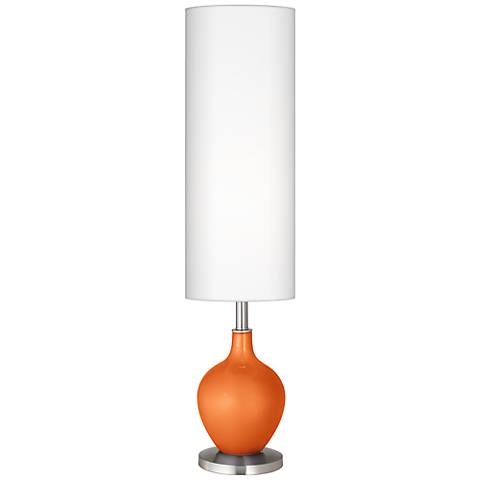 Burnt Orange Metallic Ovo Floor Lamp