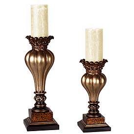 Awe Inspiring Candle Holders Decorative Table Candleholders Lamps Plus Best Image Libraries Thycampuscom