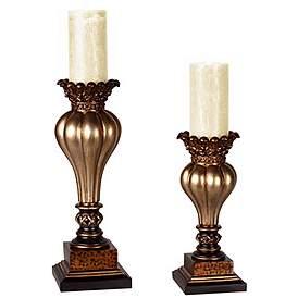 Brilliant Candle Holders Decorative Table Candleholders Lamps Plus Interior Design Ideas Gentotryabchikinfo