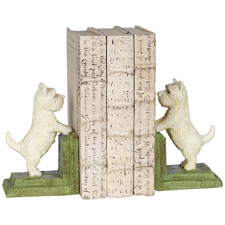 """Westie Dog 6"""" High Bookends"""